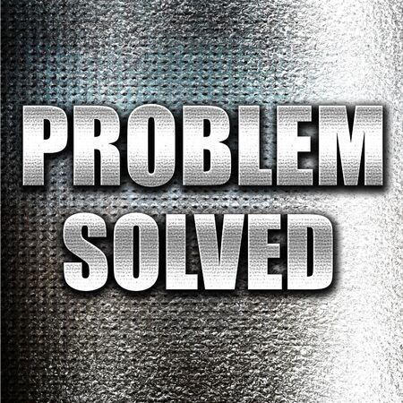 problem: Grunge metal problem solved Stock Photo