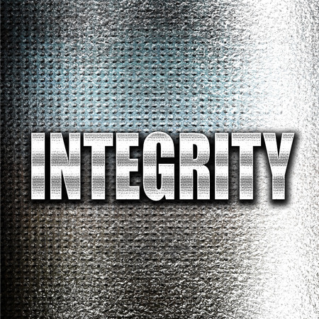 honorable: Grunge metal integrity Stock Photo