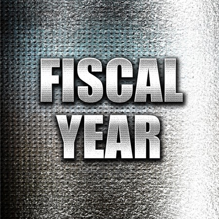 fiscal: Grunge metal fiscal year Stock Photo