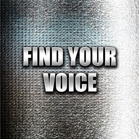 self discovery: Grunge metal find your voice Stock Photo