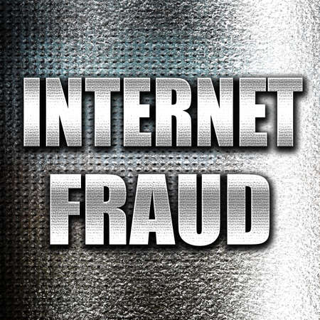 internet fraud: Grunge metal Internet fraud background with some smooth lines Stock Photo