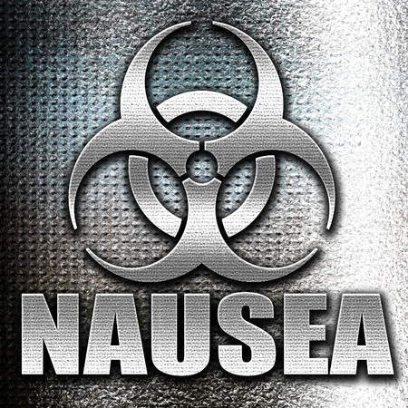 nausea: Grunge metal Nausea concept background with some soft smooth lines