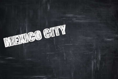 white letters: Chalkboard background with white letters: Chalkboard background with white letters: mexico city Stock Photo