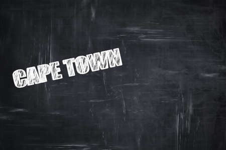 cape town: Chalkboard background with white letters: Chalkboard background with white letters: cape town Stock Photo