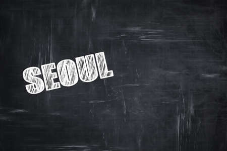 custom letters: Chalkboard background with white letters: Chalkboard background with white letters: seoul