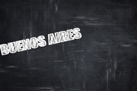 aires: Chalkboard background with white letters: Chalkboard background with white letters: buenos aires Stock Photo
