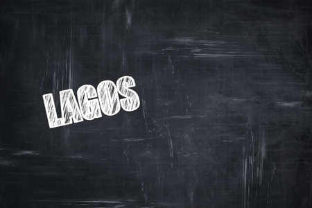 lagos: Chalkboard background with white letters: Chalkboard background with white letters: lagos