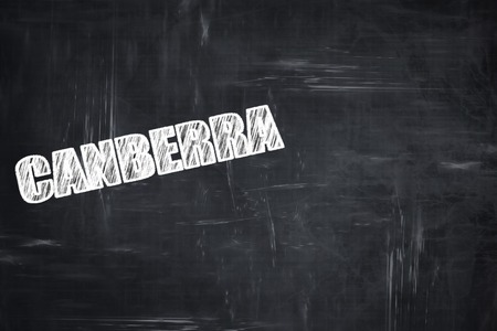 canberra: Chalkboard background with white letters: Chalkboard background with white letters: canberra