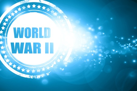 world war 2: Glittering blue stamp: World war 2 background with some smooth lines