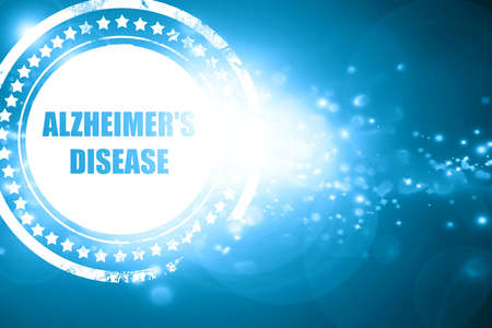 alzheimers: Glittering blue stamp: Alzheimers disease background with some soft flowing lines