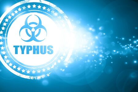 typhus: Glittering blue stamp: Typhus concept background with some soft smooth lines Stock Photo