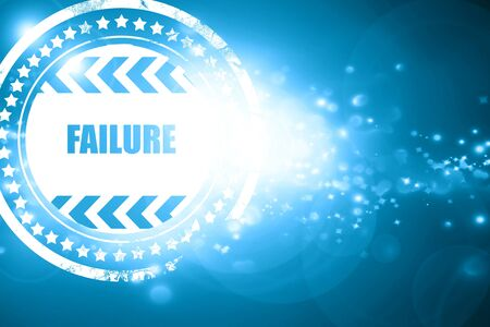 weakness: Glittering blue stamp: Failure sign with some smooth lines and highlights