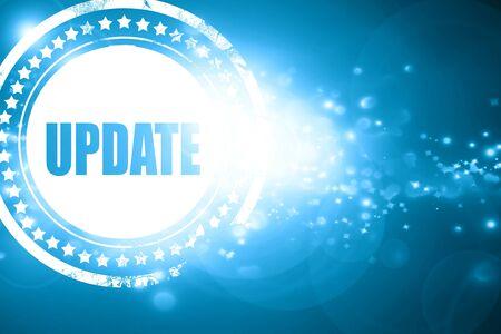 update: Glittering blue stamp: update