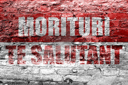 the roman empire: morituri te salutant, we who are about to die (gladiator words) Stock Photo
