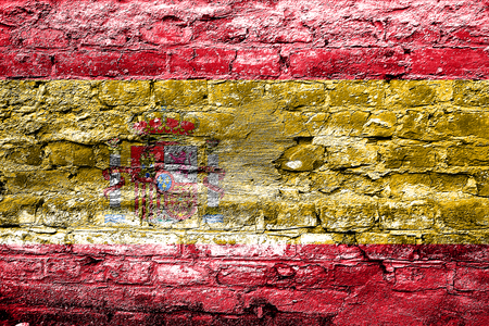 spanish flag: Spanish flag with some soft highlights and folds
