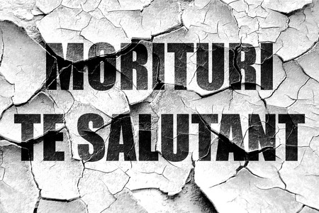 roman empire: morituri te salutant, we who are about to die (gladiator words) Stock Photo