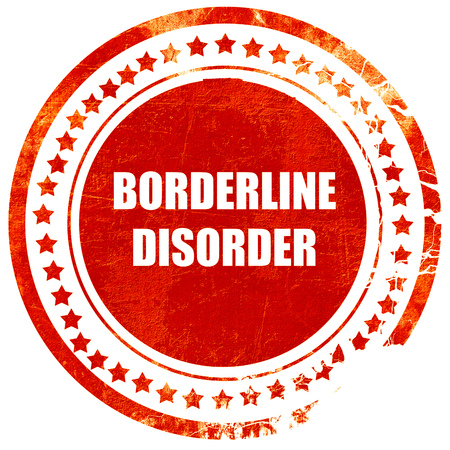 borderline: Borderline sign background with some soft smooth lines, isolated red rubber stamp on a solid white background