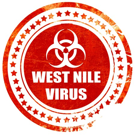white nile: West nile virus concept background with some soft smooth lines, isolated red rubber stamp on a solid white background