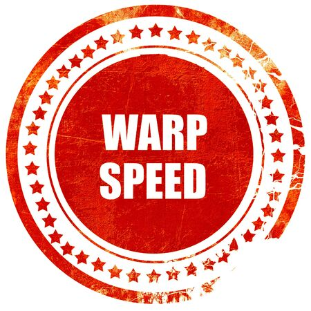 warp speed: warp speed, isolated red rubber stamp on a solid white background Stock Photo