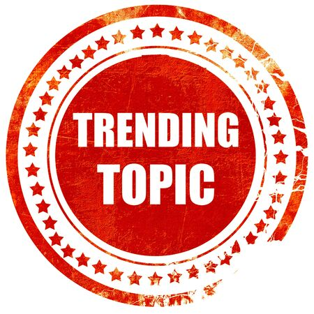 topic: trending topic, isolated red rubber stamp on a solid white background