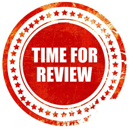 appraise: time for review, isolated red rubber stamp on a solid white background