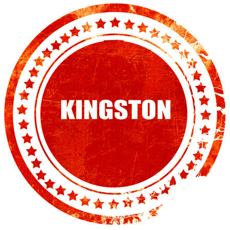 kingston: kingston, isolated red rubber stamp on a solid white background