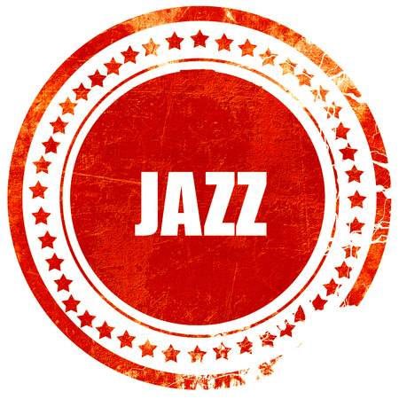 african sax: jazz music, isolated red rubber stamp on a solid white background