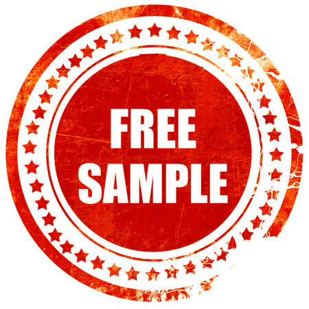 free sample: free sample sign with some soft smooth lines, isolated red rubber stamp on a solid white background Stock Photo