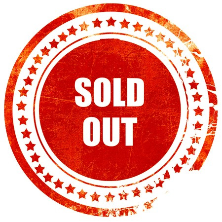 sold isolated: sold out sign with some smooth lines, isolated red rubber stamp on a solid white background