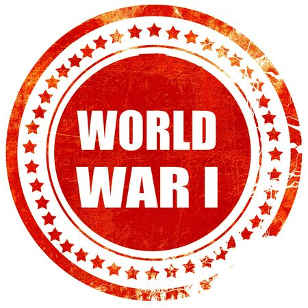 world war 1: World war 1 background with some smooth lines, isolated red rubber stamp on a solid white background