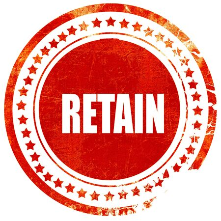retained: retain, isolated red rubber stamp on a solid white background Stock Photo