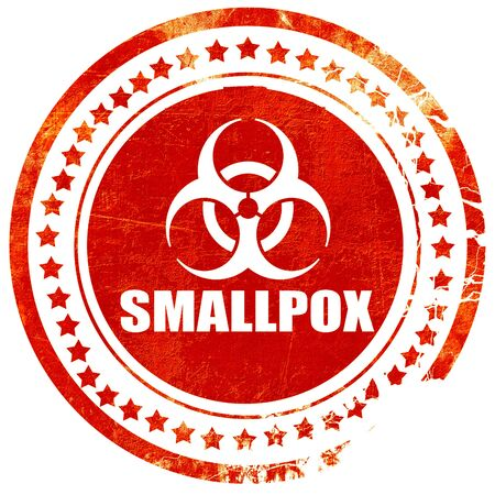 smallpox: smallpox concept background with some soft smooth lines, isolated red rubber stamp on a solid white background