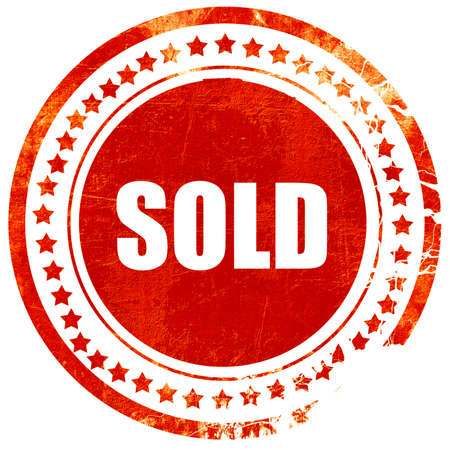 sold isolated: sold sign background with some soft smooth lines, isolated red rubber stamp on a solid white background