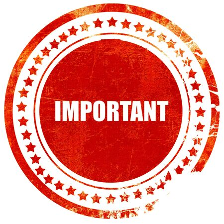 important sign: important sign background with some soft smooth lines, isolated red rubber stamp on a solid white background