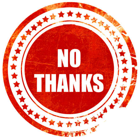 no lines: no thanks sign with some smooth lines, isolated red rubber stamp on a solid white background