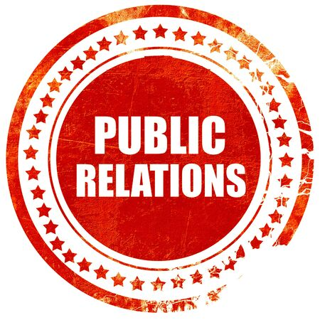 relaciones publicas: public relations, isolated red rubber stamp on a solid white background Foto de archivo