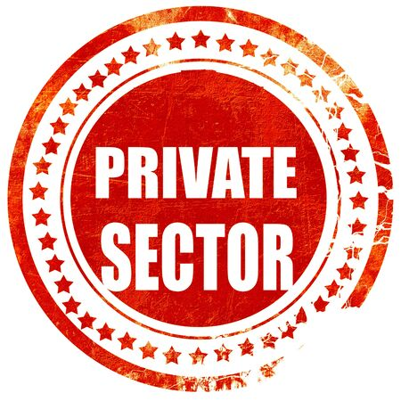 private domain: private sector, isolated red rubber stamp on a solid white background Stock Photo