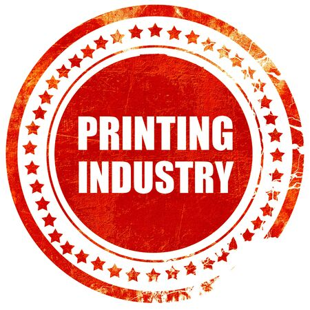 printing industry: printing industry, isolated red rubber stamp on a solid white background Stock Photo