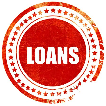 loans: loans, isolated red rubber stamp on a solid white background