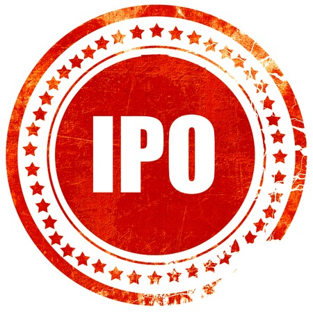 initial public offerings: ipo, isolated red rubber stamp on a solid white background Stock Photo
