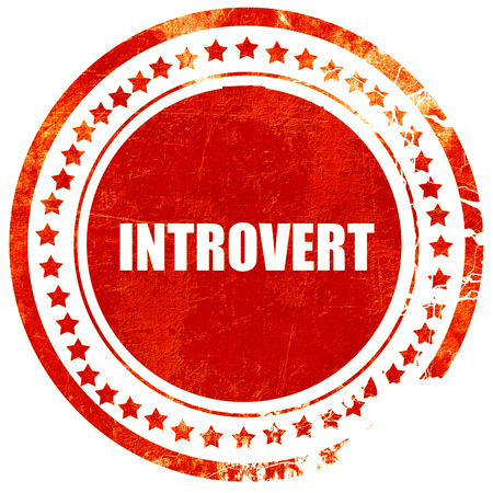 introvert: introvert, isolated red rubber stamp on a solid white background