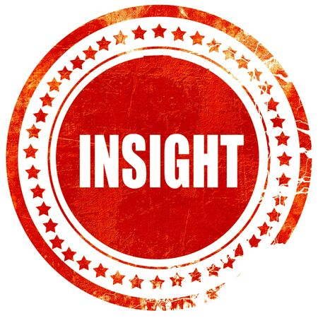 insightful: insight, isolated red rubber stamp on a solid white background