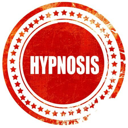 hypnotist: hypnosis, isolated red rubber stamp on a solid white background