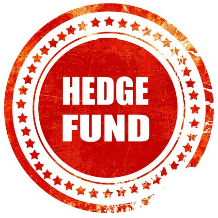 wallstreet: hedge fund, isolated red rubber stamp on a solid white background Stock Photo