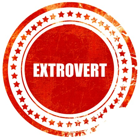 outspoken: extrovert, isolated red rubber stamp on a solid white background