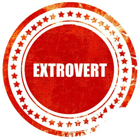extrovert: extrovert, isolated red rubber stamp on a solid white background