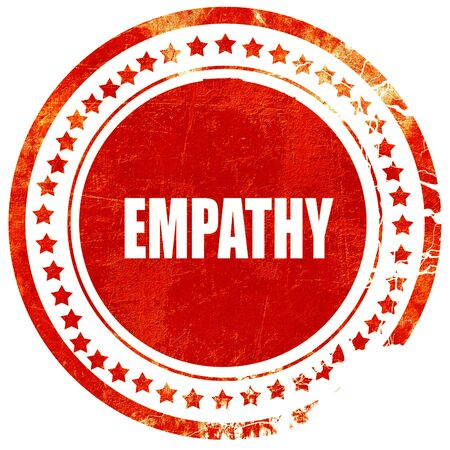 empatia: empathy, isolated red rubber stamp on a solid white background