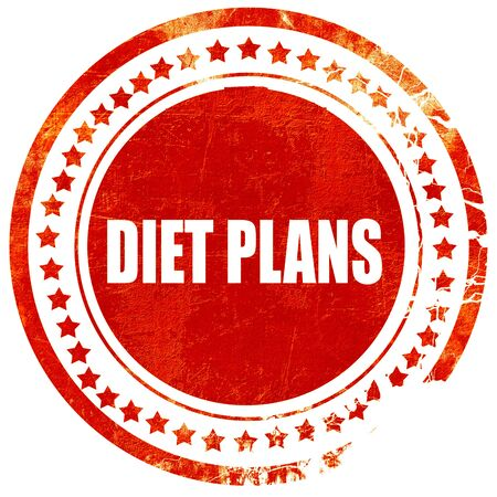 don't care: diet plans, isolated red rubber stamp on a solid white background Stock Photo