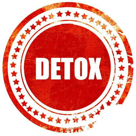 toxins: detox, isolated red rubber stamp on a solid white background
