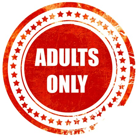 adults only: adults only sign with some vivid colors, isolated red rubber stamp on a solid white background Stock Photo